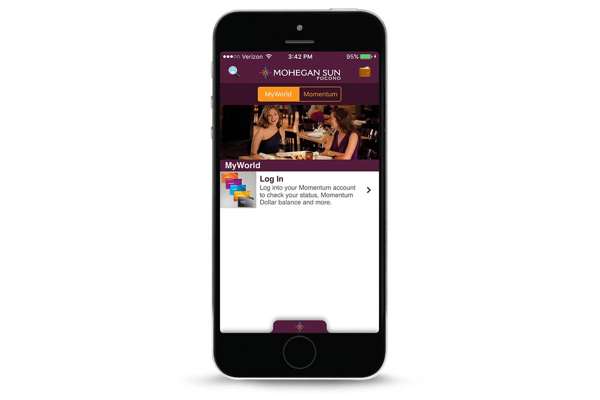 MyWorld Login of Mohegan Sun Pocono App