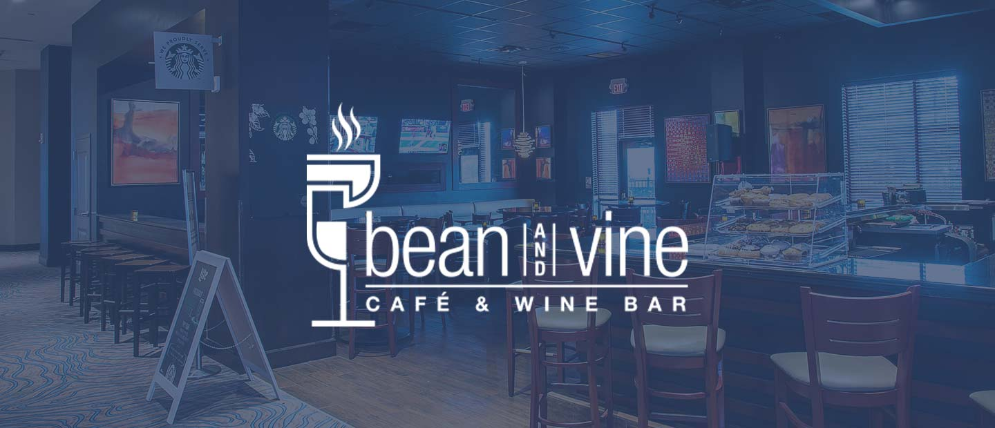 Background image of Bean & Vine with Bean & Vine logo over the top
