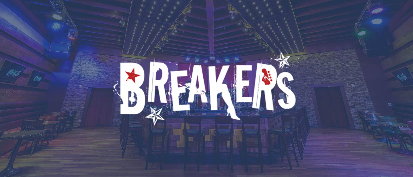 Background image of Breakers with Breakers logo over the top