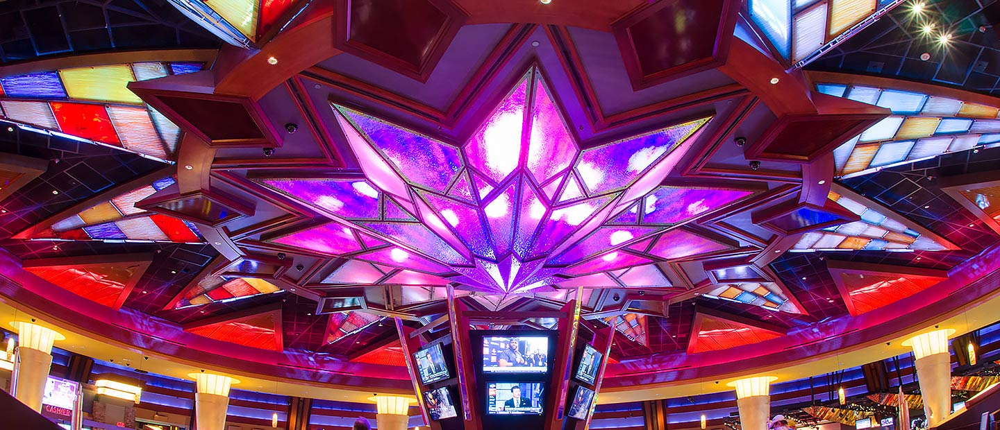 Sunburst Bar Ceiling at Mohegan Sun Pocono